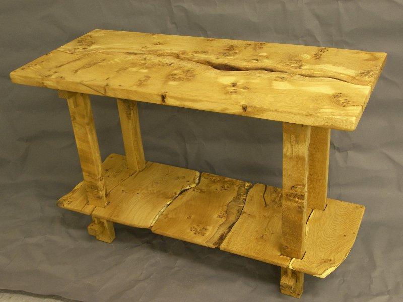 Burr Oak Consol Table