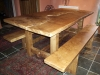 Burr Oak Table and Benches