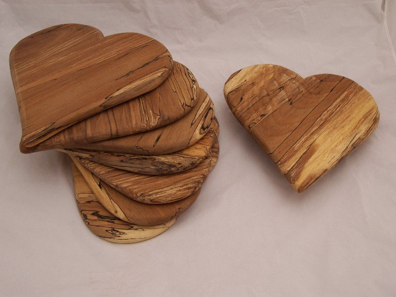 Spalted Beech Heart Boards