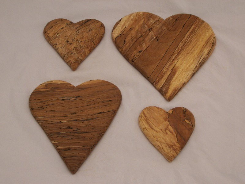 Spalted Beech Hearts