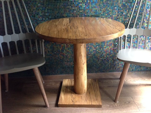 Pedestal Table in Spalted Beech