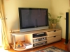 TV Display Storage unit in beech and ebonised beech
